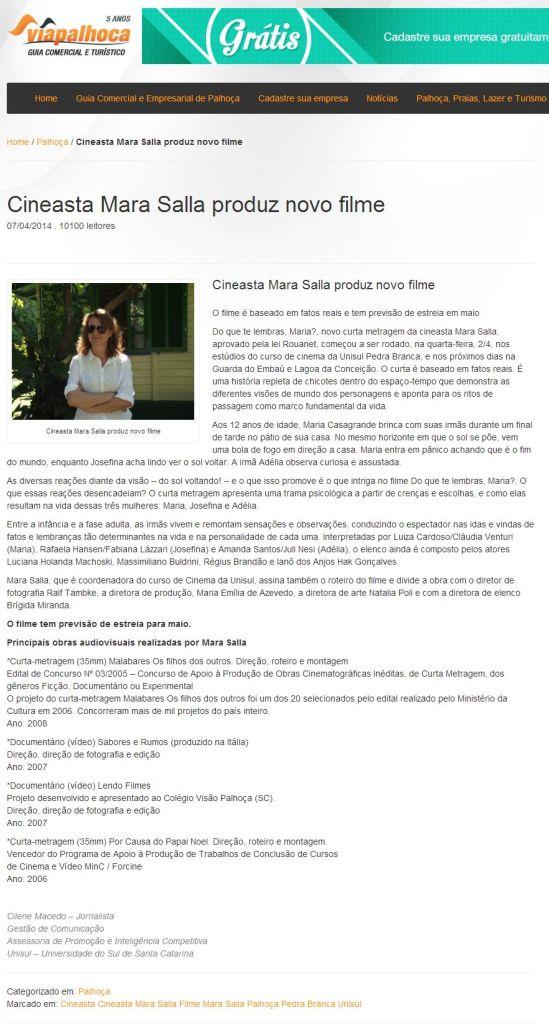 FireShot Screen Capture #133 - 'Cineasta Mara Salla produz novo filme' - www_viapalhoca_com_br_cineasta-mara-salla-produz-novo-filme