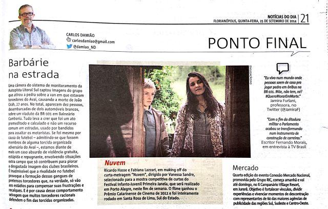 Jornal ND - Carlos Damiao - 25-09-2014