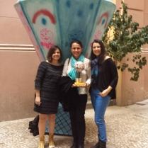 Patricia Monegatto (idealizador da Primeira Janela), Luiza Lins (Homenageada do Festival - Mostra de Cinema Infantil de Florianópolis, SC), Fabiana Lazzari (atriz Nuvem - Melhor filme Júri Popular do Primeira Janela).