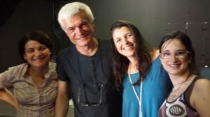 Nicoletta, Fabrizio, eu e Federica! OBRIGADA!!