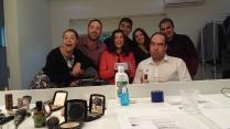 Suzana, Cleístenes, Fabiana, Diego, Juliana, Ademir e diretor Marcos