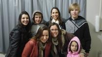 Eu, Ricardo Hasse, Vanessa, Gustavo Hasse, Fabiana Franzosi, Mariza Vandrezen e sua filha