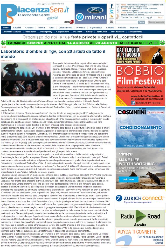 Jornal de Piacenza - Itália