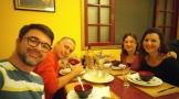 Jantar de despedida com Federica, Mário e Alex.