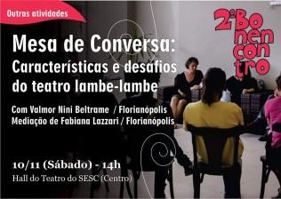 2º BONENCONTRO - Mesa de Conversa